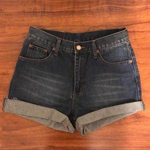 Cheap Monday High Waisted Denim Shorts